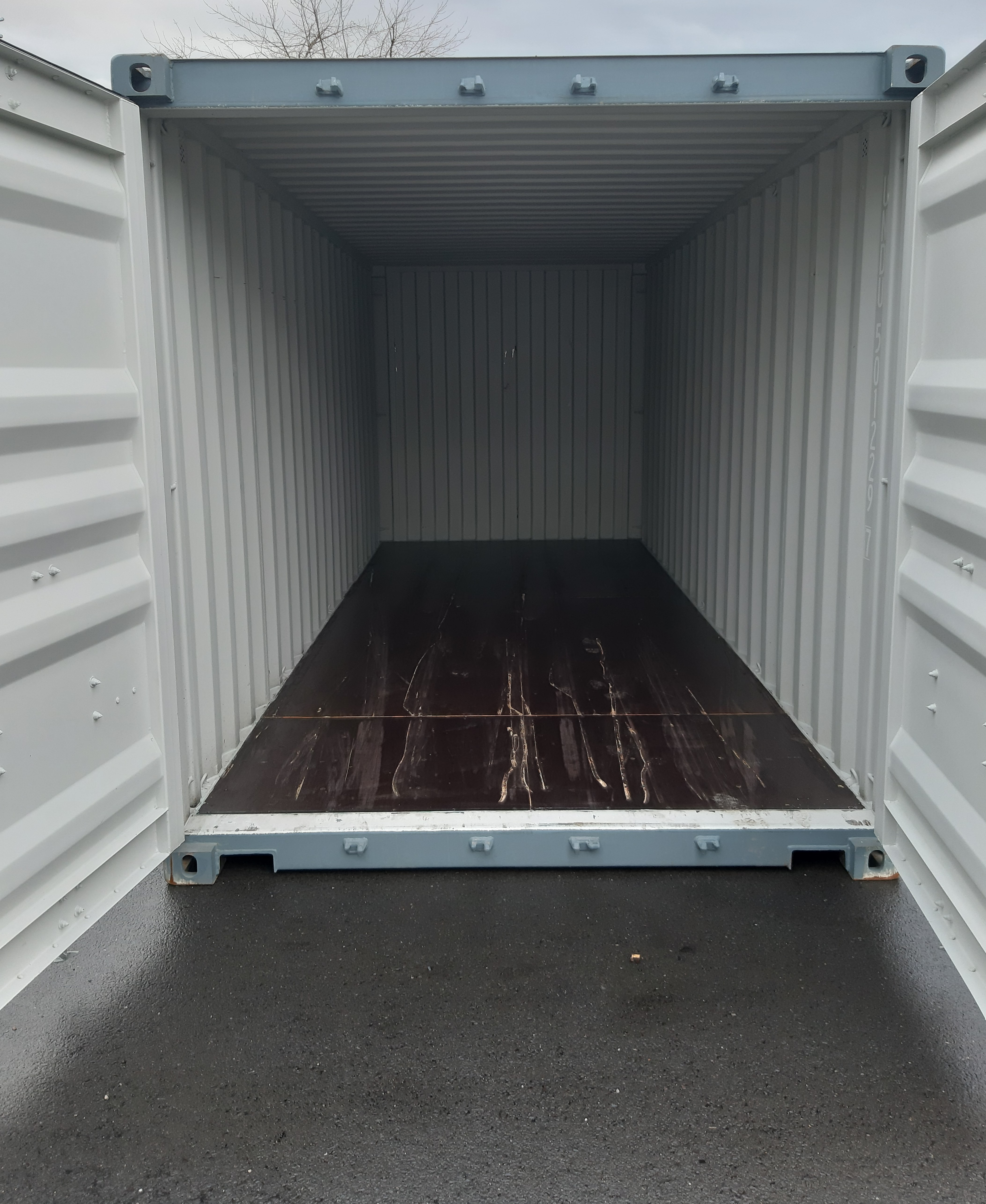 Seecontainer 20' One Way RAL 7031 Blaugrau